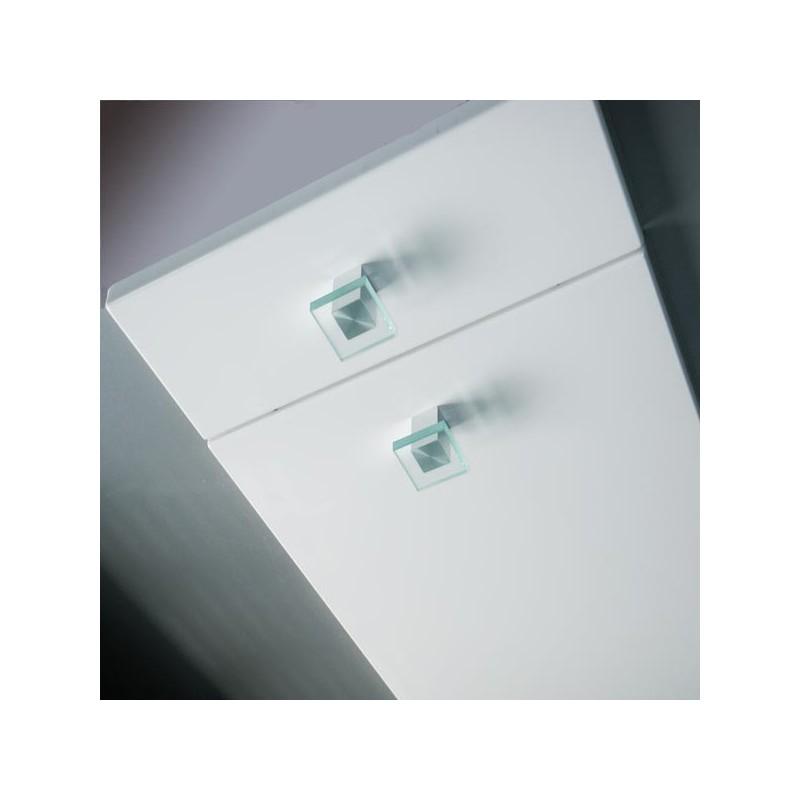 Bouton verre forme carr - Bouton de meuble en verre ...