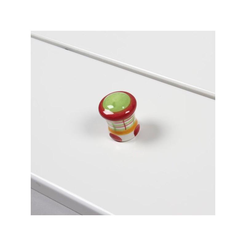 bouton porcelaine color pour meuble tiroir. Black Bedroom Furniture Sets. Home Design Ideas