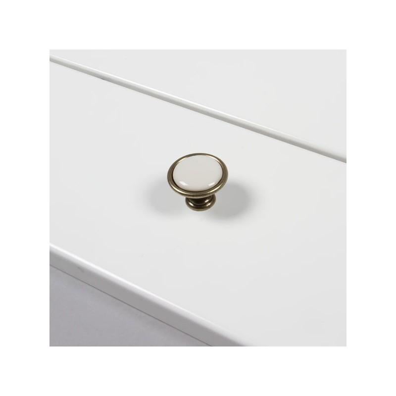 bouton de meuble porcelaine bronz ivoire. Black Bedroom Furniture Sets. Home Design Ideas