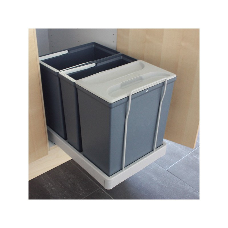 poubelle bacs 32l gris fonc. Black Bedroom Furniture Sets. Home Design Ideas