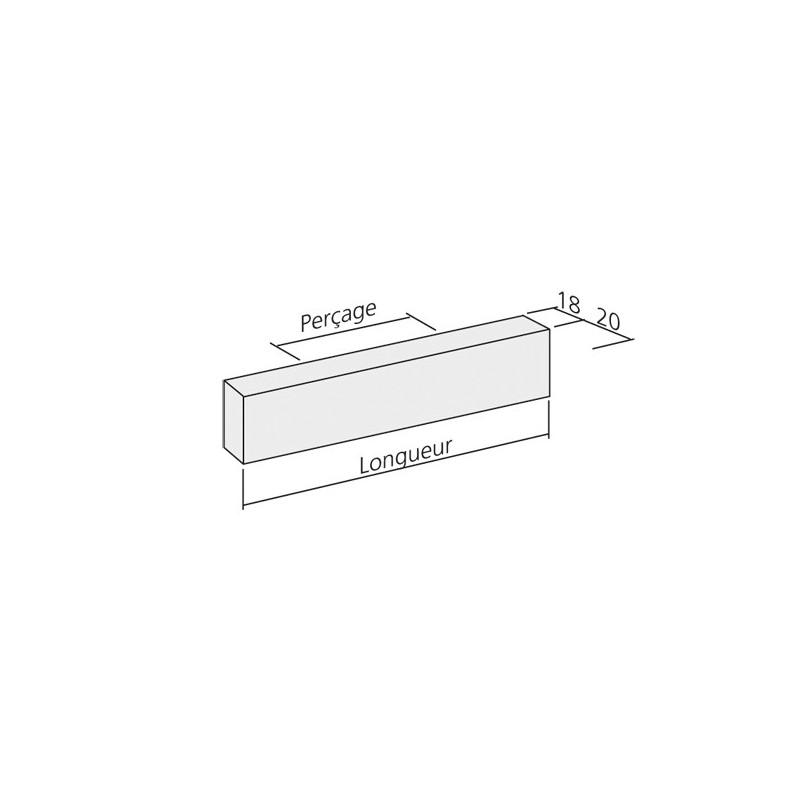 Poign e cuisine aluminium tirette vague for Donne meuble de cuisine