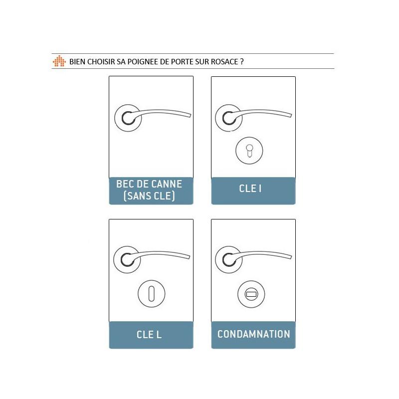 poign e sur rosace chrom bari. Black Bedroom Furniture Sets. Home Design Ideas