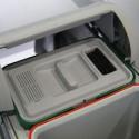 Poubelle tri sélectif coulissante 2 bacs - 36l avec filtre à charbon
