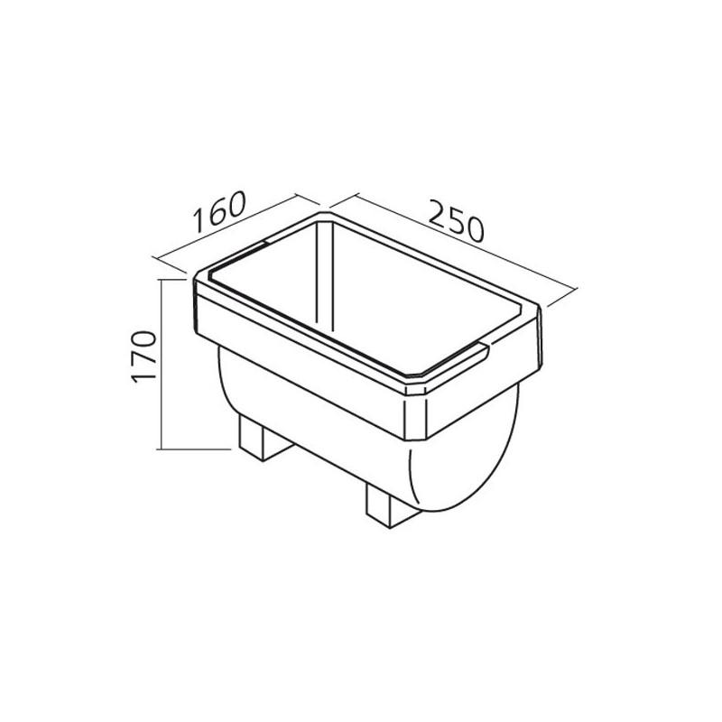 bac de rangement 4l compl ment poubelle. Black Bedroom Furniture Sets. Home Design Ideas
