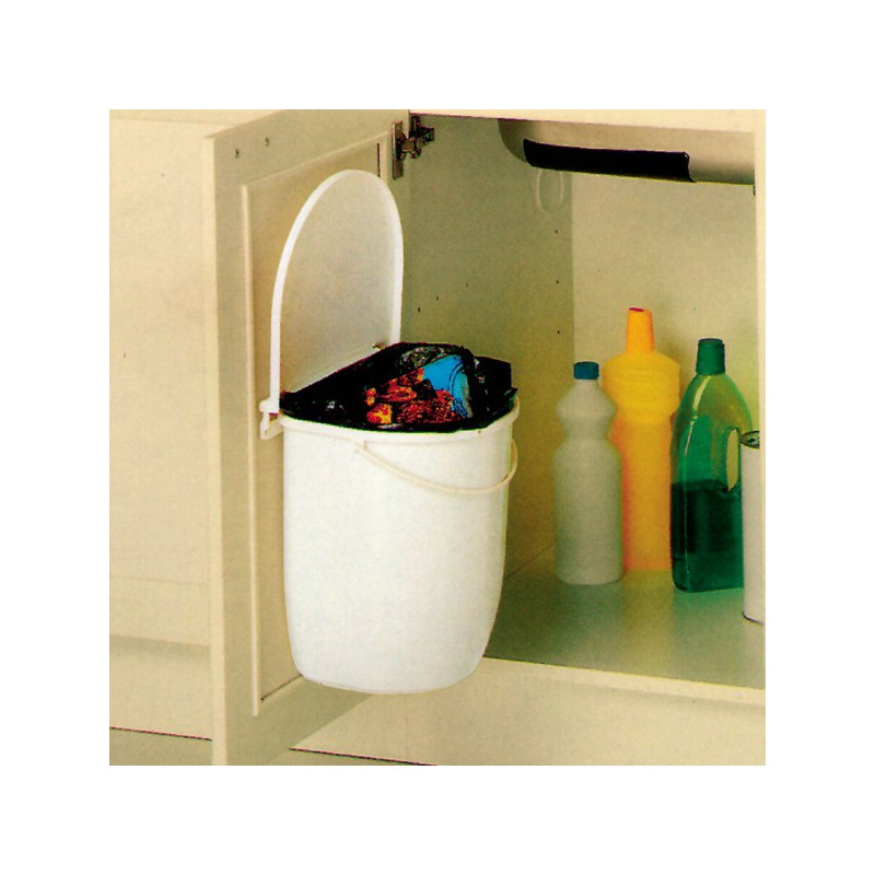 poubelle cuisine pivotante 1 bac 12 litres. Black Bedroom Furniture Sets. Home Design Ideas