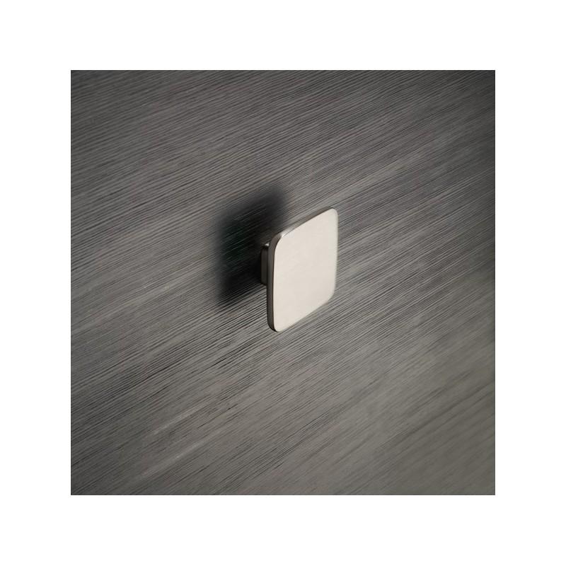 Bouton de meuble look inox button for Bouton poussoir meuble