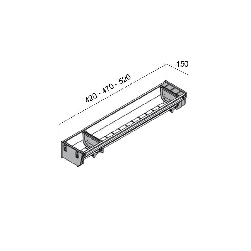 rangecouverts inox pour tiroir de 600 mm