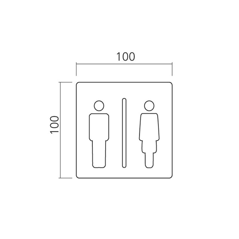 plaque signal tique wc inox. Black Bedroom Furniture Sets. Home Design Ideas