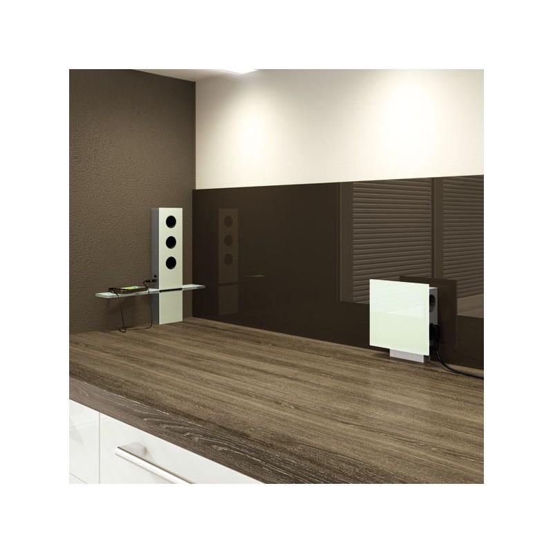 bloc 3 prises avec tablette. Black Bedroom Furniture Sets. Home Design Ideas