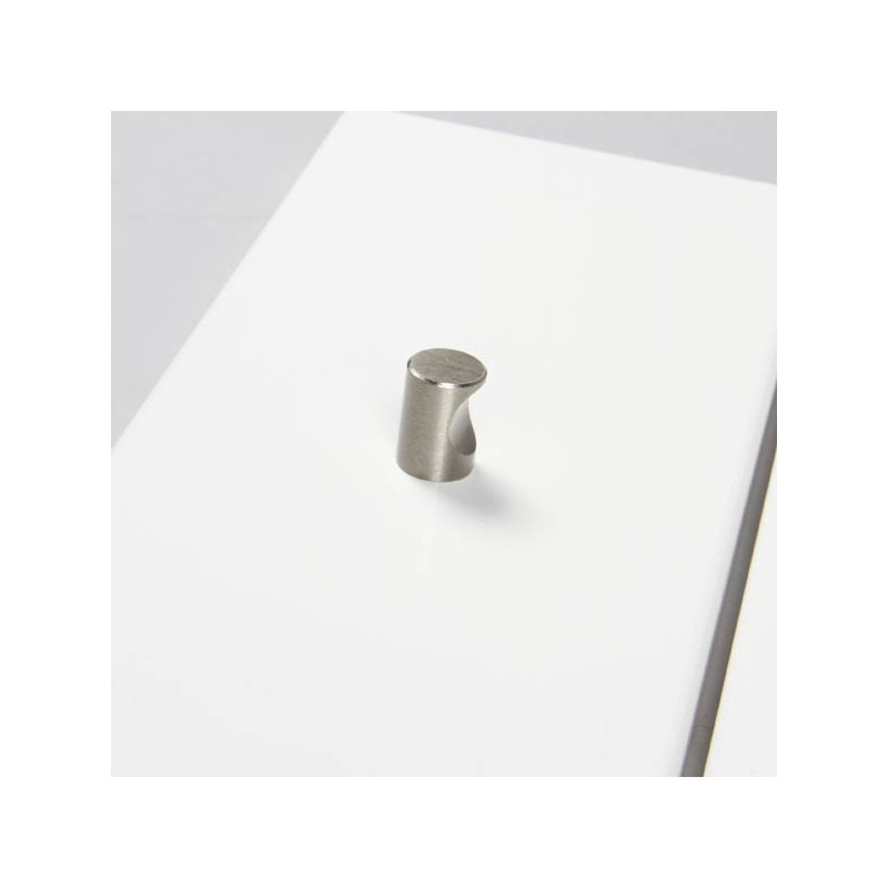 bouton de meuble cylindrique encoche look inox cyndo. Black Bedroom Furniture Sets. Home Design Ideas