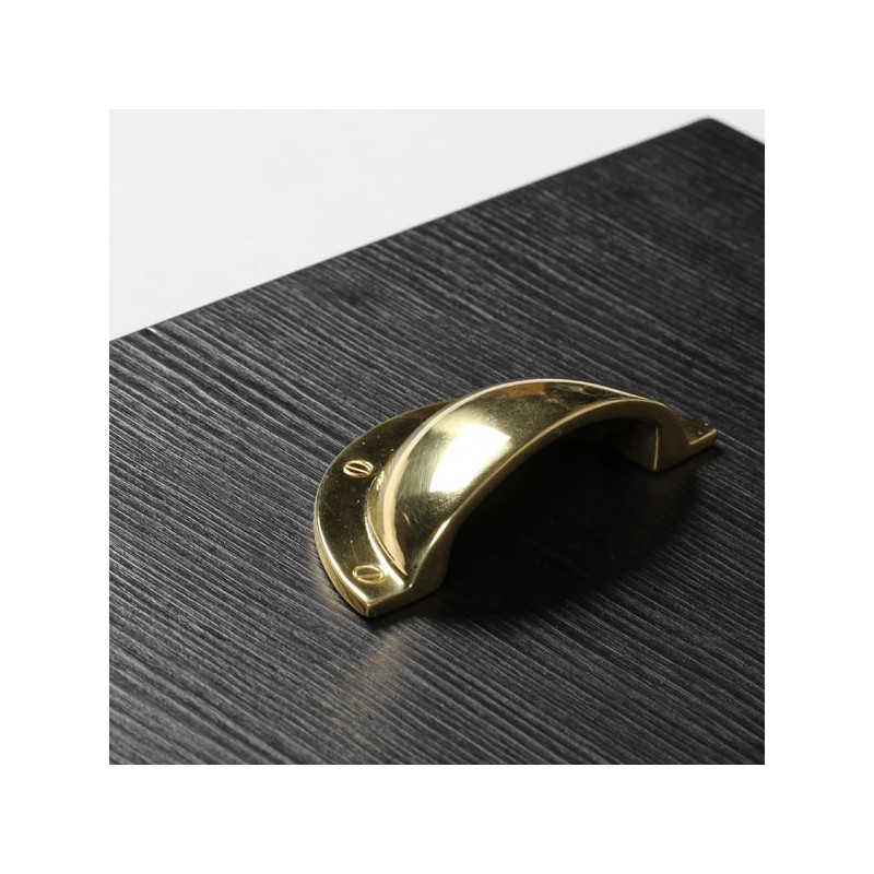 Poign e laiton forme coquille - Poigne de meuble ...