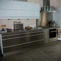 Poignée de meuble cuisine aluminium bimatière ATOME