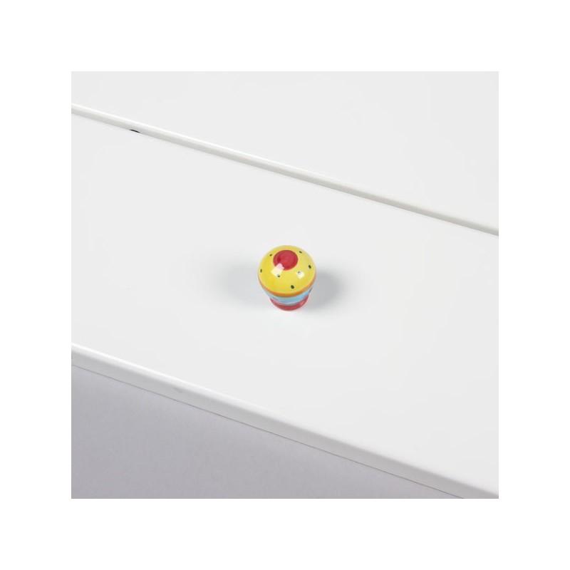 bouton de meuble porcelaine d co jaune. Black Bedroom Furniture Sets. Home Design Ideas