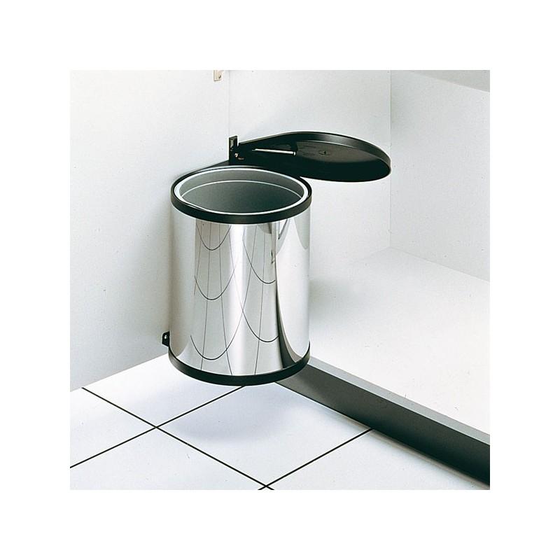 Poubelle ronde blanche 1bac 12 litres - Poubelle cuisine blanche ...