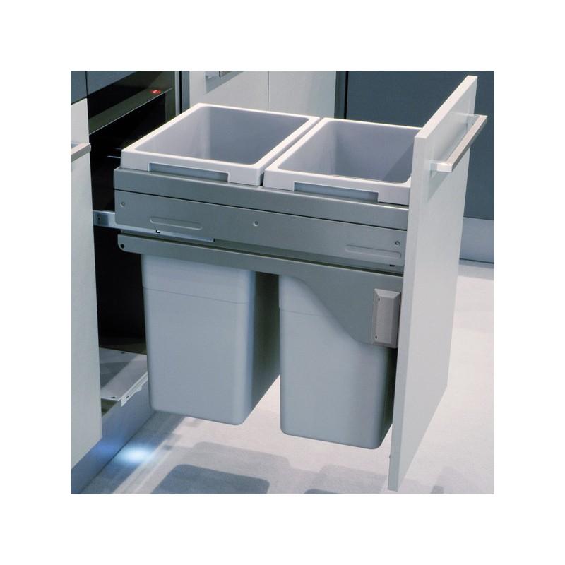 poubelle bacs 70l gris clair. Black Bedroom Furniture Sets. Home Design Ideas