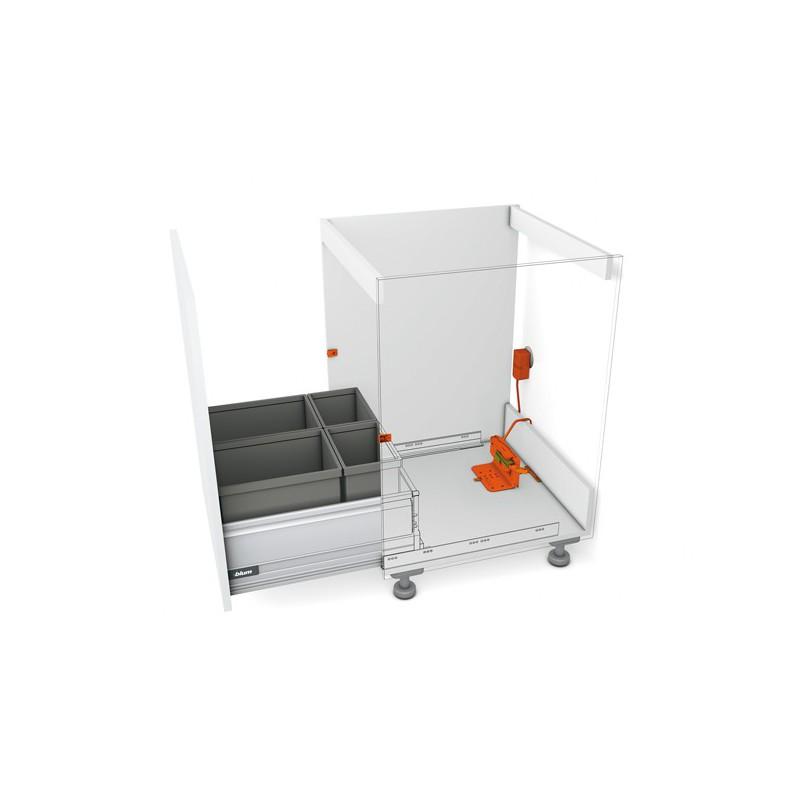 Servo drive ouverture automatique tiroir for Tiroir poubelle cuisine