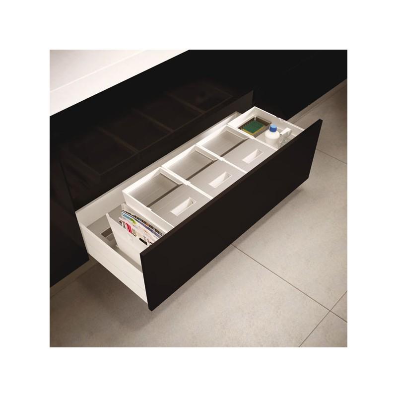 poubelle cuisine pour tiroir de 1200 mm 3 bacs 48l. Black Bedroom Furniture Sets. Home Design Ideas