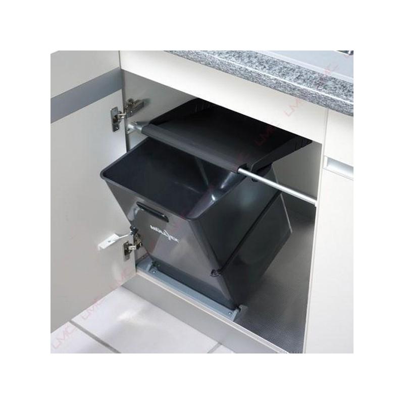 Poubelle cuisine basculante 1 bac 35 litres - Ouverture porte garage automatique ...