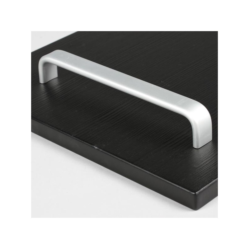 Poign e cuisine aluminium forme rectangle arrondi for Meuble aluminium cuisine