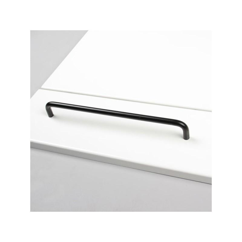 poign e de meuble alu noir ou blanc filea diam tre 10mm entraxe 256mm sur. Black Bedroom Furniture Sets. Home Design Ideas