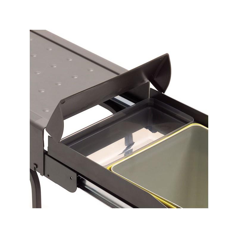 Poubelle de placard cuisine maison design for Placard cuisine inox