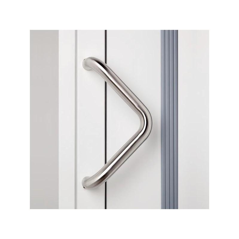 Poign e de porte d 39 entr e v inox chez ilovedetails - Fixation porte d entree ...