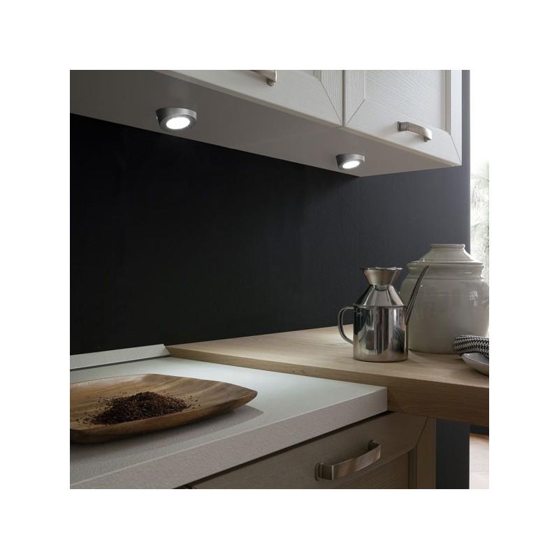 kit 2 spots led en applique. Black Bedroom Furniture Sets. Home Design Ideas