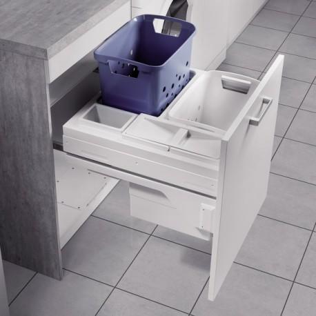 Panier linge coulissant pour meuble de 600 mm for Panier coulissant pour meuble de cuisine