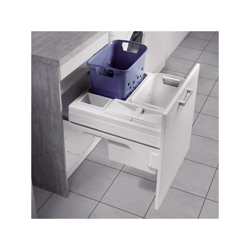 panier linge coulissant pour meuble de 600 mm. Black Bedroom Furniture Sets. Home Design Ideas