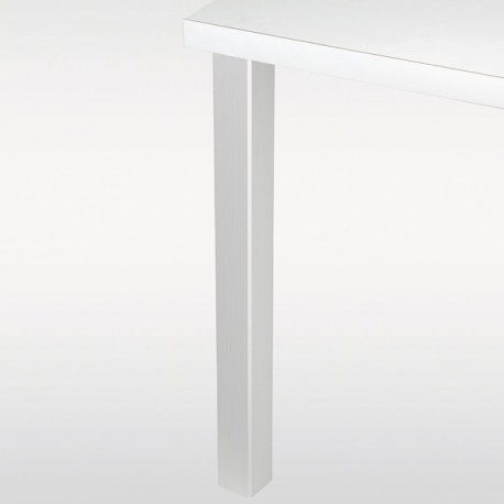 Pied De Table 110 Cm.Pied De Table Carre Joey 6 Cm Hauteur 110 Cm Blanc Chrome Ou Inox