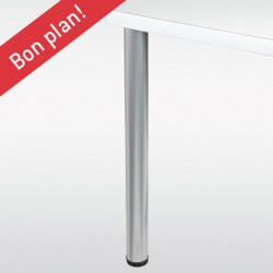 Lot de 4 pieds de table ronds ALDO hauteur 710mm, diamètre 60mm