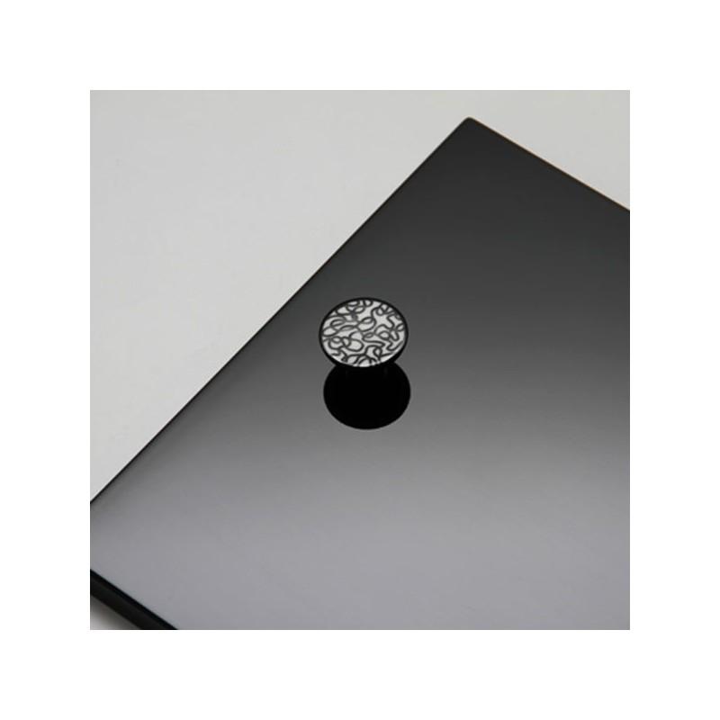 bouton de meuble porcelaine scribble. Black Bedroom Furniture Sets. Home Design Ideas