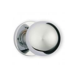 Bouton de meuble chromé forme boule