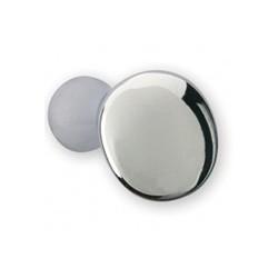 Bouton de meuble chromé forme caillou