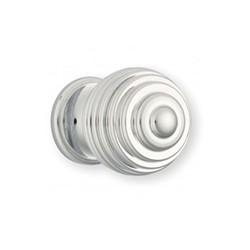 Bouton de meuble chromé boule strié