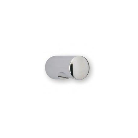 Bouton de meuble cylindrique à encoche chromé CYNDO
