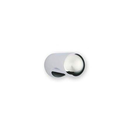 Bouton de meuble cylindrique bombé à encoche chromé CYNDOME
