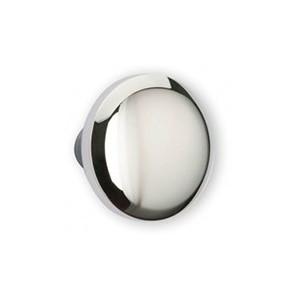 Bouton de meuble chromé forme conique boule