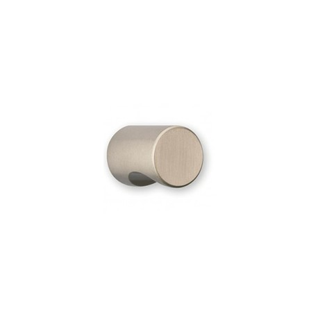 Bouton de meuble cylindrique à encoche look inox CYNDO