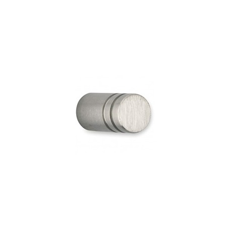 Bouton de meuble inox cylindre