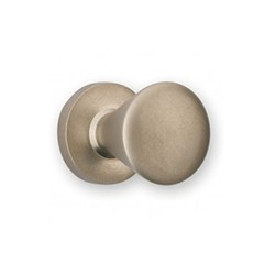 Bouton de meuble look inox conique 18 embase