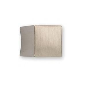 Bouton de meuble look aluminium forme carré