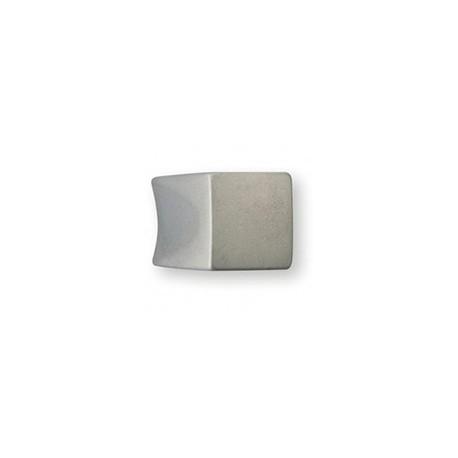 Bouton de meuble acier forme carré