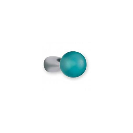 Bouton de meuble en résine turquoise PION
