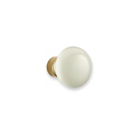Bouton de meuble porcelaine Champignon