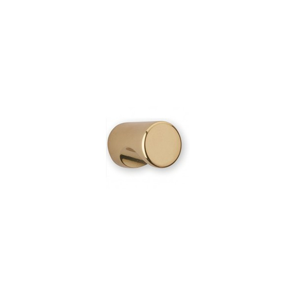Bouton de meuble cylindrique à encoche doré CYNDO