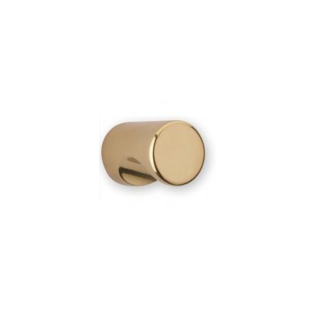 Bouton de meuble laiton à encoche rond