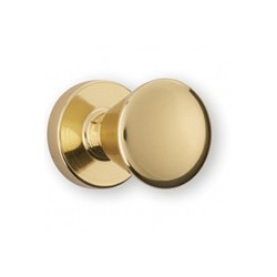 Bouton de meuble doré conique NINO avec embase diamètre 18 mm