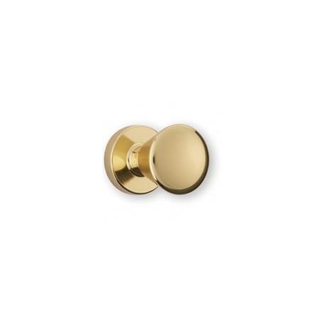 Bouton de meuble doré conique avec embase diamètre 18 mm