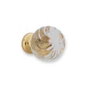 Bouton de meuble cristal Spiral